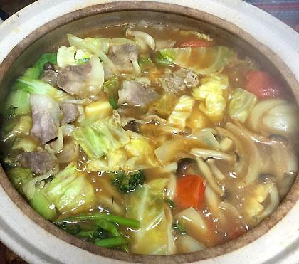 イノシシのカレー鍋