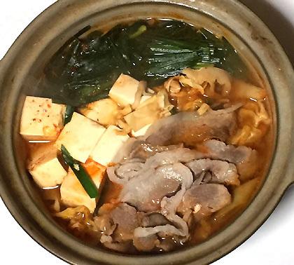 イノシシのキムチ鍋