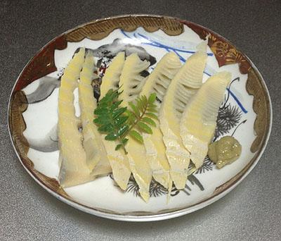 タケノコの刺身