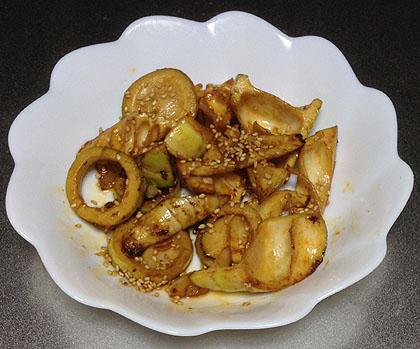 筍の中華炒め