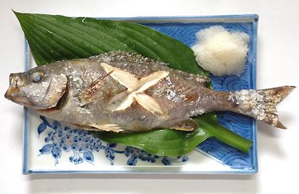 鶏魚の塩焼き