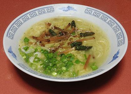 土筆入り拉麺