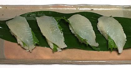 カレイの握り寿司