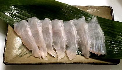 寒鯛の刺身